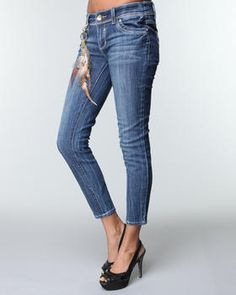 Baby Phat - FEATHER CROP JEANS $21.99 Baby Phat, Crop Jeans, Best Sellers, Feather, Simple, Pants, Life, Fashion, Trouser Pants