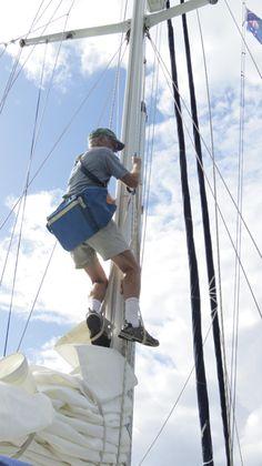 Mast climbing techniques - Ocean Navigator - September 2012