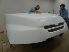 Tatra truck - carbon fiber front hood.  #dakar2014 #tatra www.brebeckcomposite.com