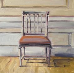 """Gray Chair"" - Original Fine Art for Sale - © Deborah Newman"