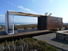 A spectacular use of a 20' container to achieve a nice space that is secure when not visiting