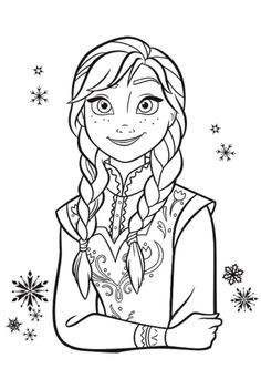 Anna Frozen Coloring Book Portrait Page Awesome Pages 70 For Your Print With
