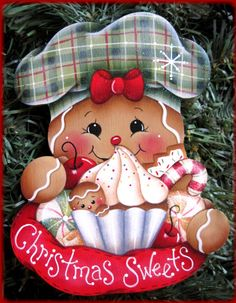 Gingers Christmas Sweets Painting E-Pattern