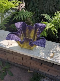"Cement /cloth flower pot holder or planter ""Maykascreation"" Vesna Danilovski"