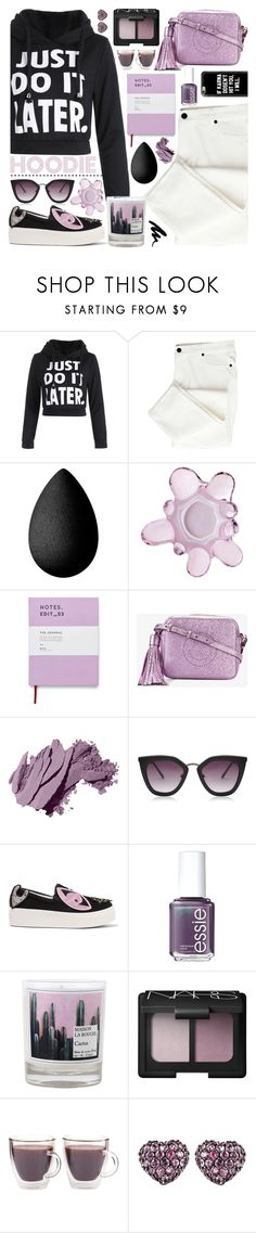 """Hoodie"" by tinkabella222 ❤ liked on Polyvore featuring SkinCare, iittala, Holly's House, Anya Hindmarch, Bobbi Brown Cosmetics, Topshop, Kenzo, Essie, Maison La Bougie and NARS Cosmetics"