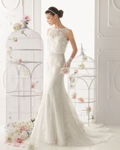 25 Timeless Wedding Gowns from Aire Barcelona, 2014 Aire Barcelona Wedding Dresses, Wedding Dresses 2014, Designer Wedding Gowns, Dress Wedding, Chanel Wedding, Wedding Bride, Wedding Gifts, Bridal Lace, Bridal Gowns