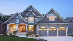 Four Gabled Craftsman Stunner - 73332HS | 2nd Floor Master Suite, Bonus Room, Butler Walk-in Pantry, CAD Available, Craftsman, Den-Office-Library-Study, Exclusive, Jack & Jill Bath, Luxury, Media-Game-Home Theater, Northwest, PDF, Photo Gallery, Premium Collection | Architectural Designs