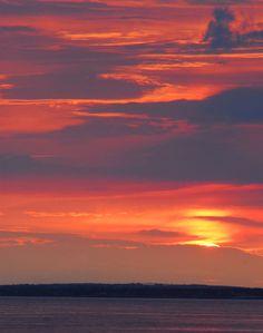 Sunset in Maine 8 x 10 Photograph Orange Purple by JLMPHOTOGRAPHS, $30.00