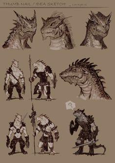 Never enough lizard people Fantasy Character Design, Character Design Inspiration, Character Concept, Character Art, Concept Art, Fantasy Races, Fantasy Warrior, Fantasy Art, Magical Creatures
