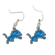 NFL WinCraft Detroit Lions Logo Charm Dangle Earrings