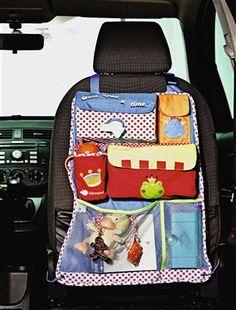 Système de rangement nomade pratique et astucieux: étudié pour s'accrocher facilement au siège de la voiture grâce à des sangles réglables.Dès la nai