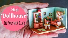 Making Cute Miniature Dollhouse Room in Polymer Clay