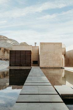 Minimalist Architecture, Interior Architecture, Architectural Digest, Exterior Design, Interior And Exterior, Amangiri Resort, Bauhaus, Desert Homes, Modern House Design
