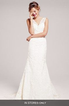 Two by Rosa Clara 'Dakota' Lace Trumpet Wedding Dress (In Stores Only) available at #Nordstrom