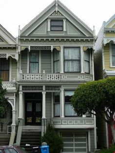 San Francisco, Californië: one of the Seven Sisters Victorian Row houses