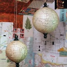 Chart your voyage (and design your space) with these smart looking globes. A real unique way to add texture and character to your space.