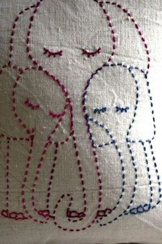 Running Stitch Motifs Hand Embroidery Designs That Moms Would Elephant Sashiko Embroidery, Hand Embroidery Patterns, Embroidery Art, Embroidery Applique, Cross Stitch Embroidery, Machine Embroidery, Baby Applique, Simple Hand Embroidery Designs, Sewing Crafts