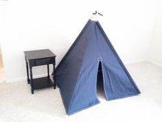 BIG Navy Canvas Teepee  Play Tent Tipi Wigwam or by Theteepeeguy, $139.00