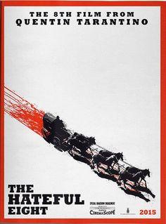 """Depois de desistir e retomar o projeto por várias vezes,Quentin Tarantino anunciou durante a Comi-Con que sim,""""The Hateful Eight"""" será mesmo seu próximo filme. O longanem começou a ser filmado ainda mas já ganhou um sangrento cartaz de divulgação sugestivo, que entrega um pouco do que vem por aí: faroestee muito sangue. Segundo a Vulture, …"""