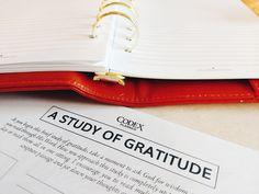 A Study of Gratitude Worksheet #codexplanner #biblestudy #faith #gratitude