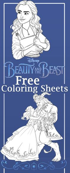 Beauty and the Beast Coloring Sheets. Free printables to print from home. The newest film from Disney starring Emma Watson as Belle!