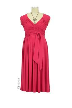 Stella Lycra Maternity Dress in Cranberry by Olian with free shipping