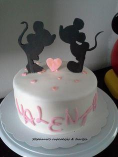 Valentijn taartje Mickey & Minnie