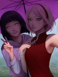 Sakura X Hinata - Naruto Anime Naruto, Naruto Girls, Naruto Und Hinata, Naruto Family, Naruto Fan Art, Sakura Uchiha, Boruto Naruto Next Generations, Itachi, Sakura Haruno Cosplay
