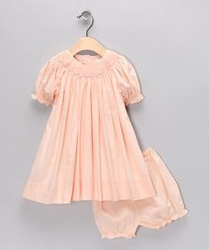 Petit Pomme Light Pink Smocked Bishop Dress