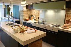 interior Small Home Interior Design Kitchens Small Kitchen Interior Design Kitchen Room Design, Interior Design Kitchen, Kitchen Decor, Interior Decorating, Kitchen Ideas, Kitchen Designs, Modern Interior, Nice Kitchen, Stone Kitchen