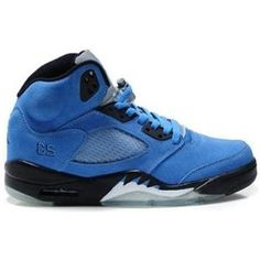 http://www.anike4u.com/ Air Jordan 5(V) Fluff Blue Black White