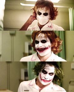Heath Ledger as The Joker. The dark knight. Le Joker Batman, Der Joker, Heath Ledger Joker, Gotham Batman, Joker And Harley Quinn, Joker Suit, Joker T Shirt, Joaquin Phoenix, Joker Nurse Costume