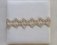 1yd Trim  Gold Rose Gold Silver Small Applique Lace  by MakingPlus