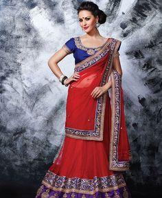 Buy Splendid Red Lehenga Choli online at  https://www.a1designerwear.com/splendid-red-lehenga-choli-2  Price: $75.34 USD