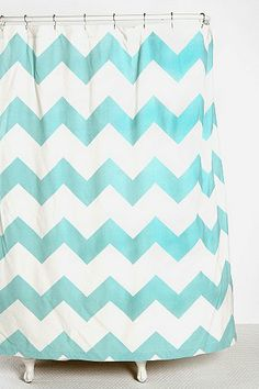 Zigzag Shower Curtain this would be cute in the guest bath too.  Subtly quirky.