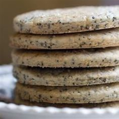 These lemon poppy seed cookies are Jewish in background. They are a thin crispy cookie that's wonderful with tea.