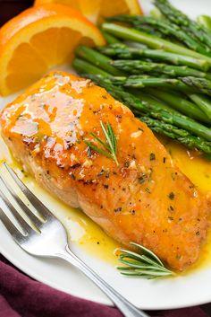 Orange-Rosemary vitrificada Salmon |  cozinhar Classy