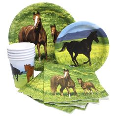 Horse Party Supplies-Napkins Plates Cups