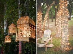 Decoración de bodas guirnaldas de luz
