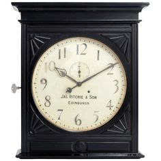 Things that inspire us: a James Ritchie & Son Wall Clock, made in Scotland, circa 1900 | #clock #clocks #vintageclock #wallclock #antique #rare #luxury #coolstuff #decor #vintagedecor #thingsthatinspireus #retro #vintage #vintagestyle #classic #classicdesign #design #timeless #classicstyle #bestofinstagram #horology #timepiece