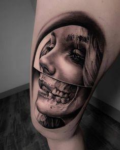 Tattoo artist Michael Perry, black and grey portrait realistic tattoo Face Tattoos, Badass Tattoos, Body Art Tattoos, Girl Tattoos, Sleeve Tattoos, Tattoo Expo, Tattoo Kits, Mujeres Tattoo, Tattoo Maker