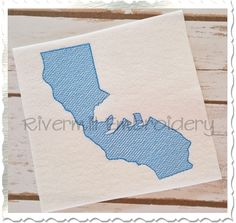 $2.95Sketch Style California with Grizzly Bear Machine Embroidery Design