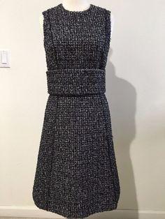741dbf31957aa4 NWT  2K Proenza Schouler Black White Tweed Belted Dress size 2   ProenzaSchouler  Cocktail