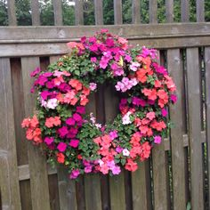 Impatiens living wreath by Kathy  Tom Degraide