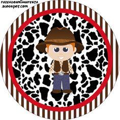 LARGE PRINTABLE SET Cowboy – Kit Completo com molduras para convites, rótulos para guloseimas, lembrancinhas e imagens! | Fazendo a Nossa Festa