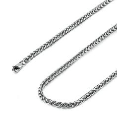 Besteel Jewelry 4MM Mens Womens Stainless Steel Wheat Necklace Chain Link 16-36 Inch (16 Inches) | Amazon.com