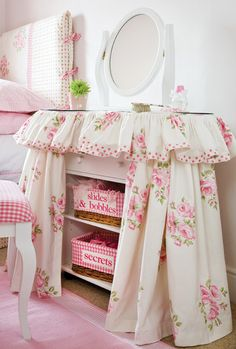dressing table slip cover