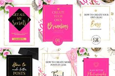 Pretty Girls Blog Templates + BONUS by Glam House Shop on @creativemarket