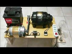 Alternator 220V and Motor 12V charging system - YouTube