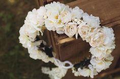 Blumenkranz+Hochzeit+Kirschblüten+von+Manousche+auf+DaWanda.com